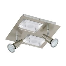 Briloner 2879-042 - LED laevalgusti COMBINATA 2xGU10 / 3W + 2x LED / 5W / 230V