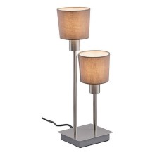 Briloner 7810-022 - Laualamp TAUPE 2xE14/5,5W/230V