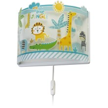 Dalber D-76118 - laste Seinavalgusti MY LITTLE JUNGLE 1xE27/60W/230V
