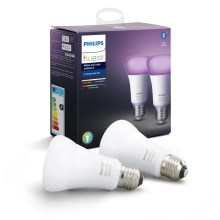 KOMPLEKT 2x LED Hämardatav pirn Philips HUE WHITE AND COLOR AMBIANCE E27/9W/230V 2000-6500K