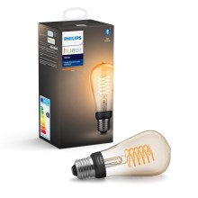 LED Hämardatav pirn Philips HUE WHITE FILAMENT ST64 E27/7W/230V 2100K