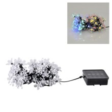 LED Päikesepatareiga valguskett FLOWER 50xLED/1,2V IP44