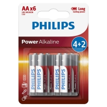 Philips LR6P6BP/10-6 tk leelispatareid AA POWER ALKALINE 1,5V