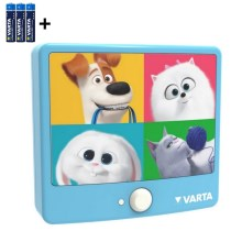 Varta 15642 - LED Laste seinavalgusti anduriga THE SECRET LIFE OF PETS LED/3xAAA
